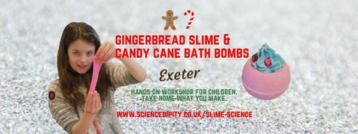 Gingerbread Slime & Candy Cane Bath Bombs Exeter