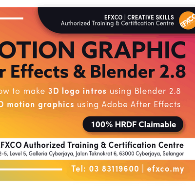 AUTHORISED TRAINING MOTION GRAPHICS using Adobe After Effects & Blender 2.8
