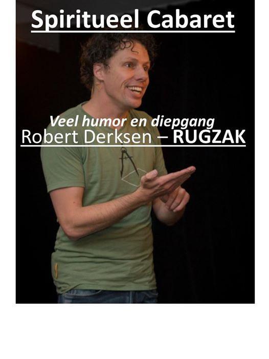 Spirituele cabaretshow Rugzak door Robert Derksen