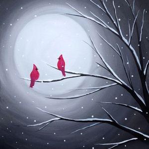 Paint Nite - Cardinal Moon