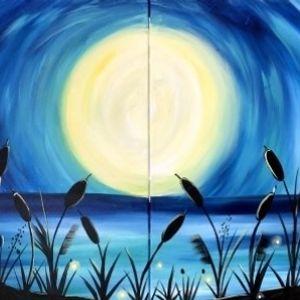 Paint Nite - Beach Moonlight (Partner Painting)