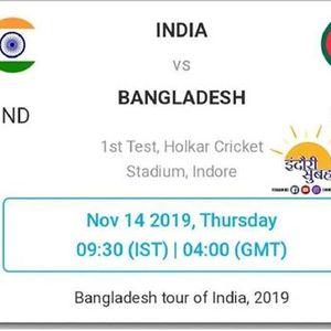 India Vs Bangladesh 1st Test Indore