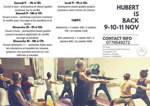 Hubert is back - ashtanga workshop report