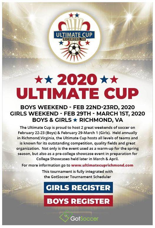 2020 Ultimate Cup (Boys Weekend)