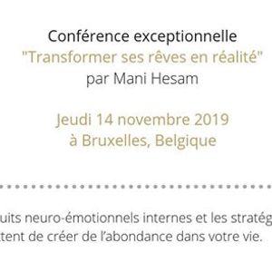 """Confrence &quotTransformer ses rves en ralit""""  Bruxelles"""