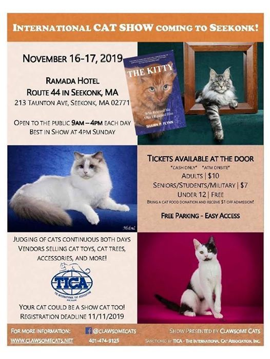 The KITTY Invited to Join Clawsome Cats in Seekonk, MA at