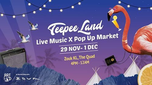 TeepeeLand MicroFestival  Indie Music Showcase X Pop-Up Market