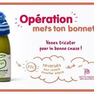 """Journe tricot pour lopration &quotMets ton bonnet"""""""