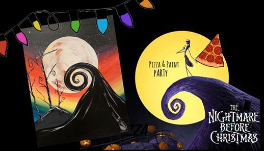 Nightmare Before Christmas Pizza & Paint pARTy