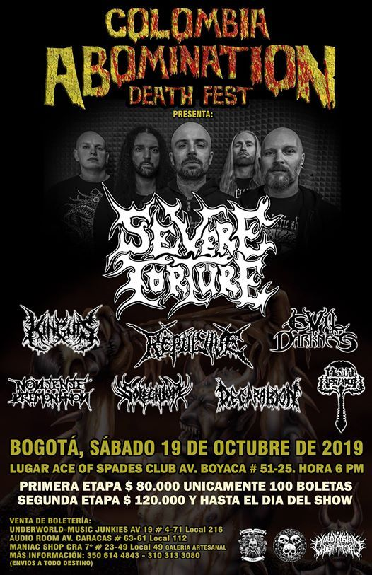 Colombia Abomination Death Fest - Severe Torture