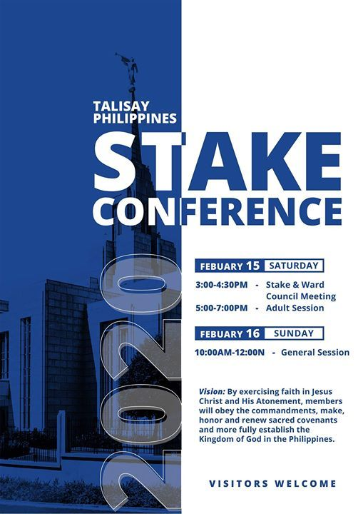 Talisay Stake Conference  Visitors Welcome
