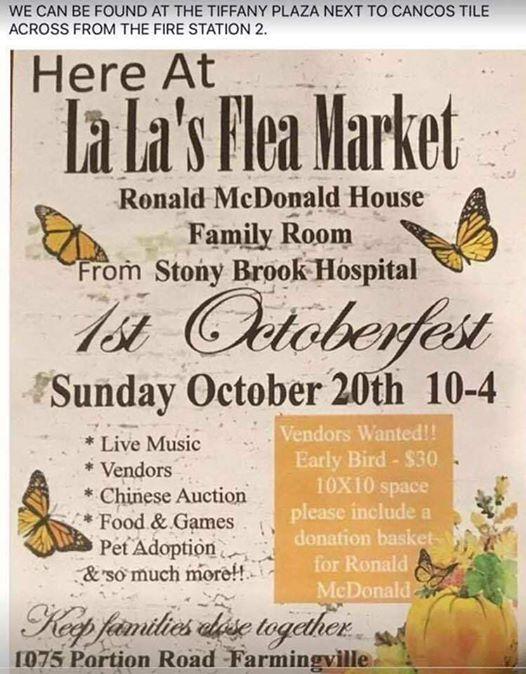 Octoberfest Benefit For Ronald Mcdonald House W County Line Road At Lala Flea Market Ronkonkoma