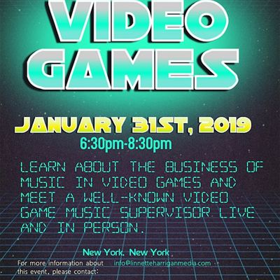 Get Your Music In Video Games 2020 (Discussion Pitch & Listening Session)