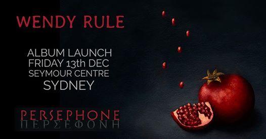 Wendy Rule Persephone Sydney Launch