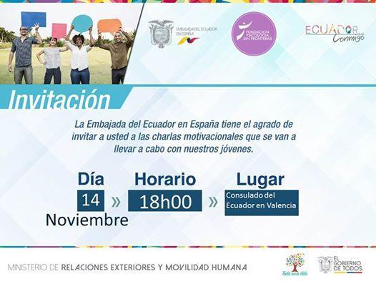 Charla Motivacional Para Jóvenes At Consulado Del Ecuador En