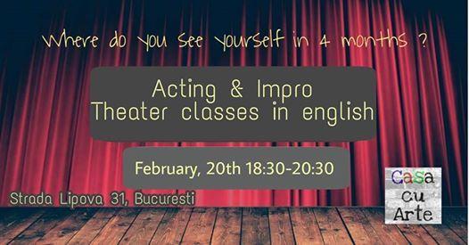 Curs de Theatre In English