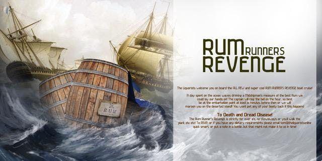 Rum Runners Revenge Rum Cruise - 1pm (The Liquorists)