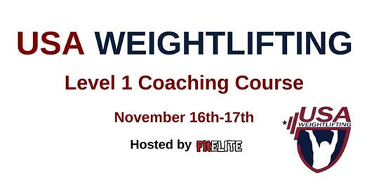 Usa Weightlifting Level 1 At Fitelite Eau Claire