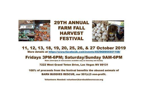29th Annual FARM Fall Harvest Festival