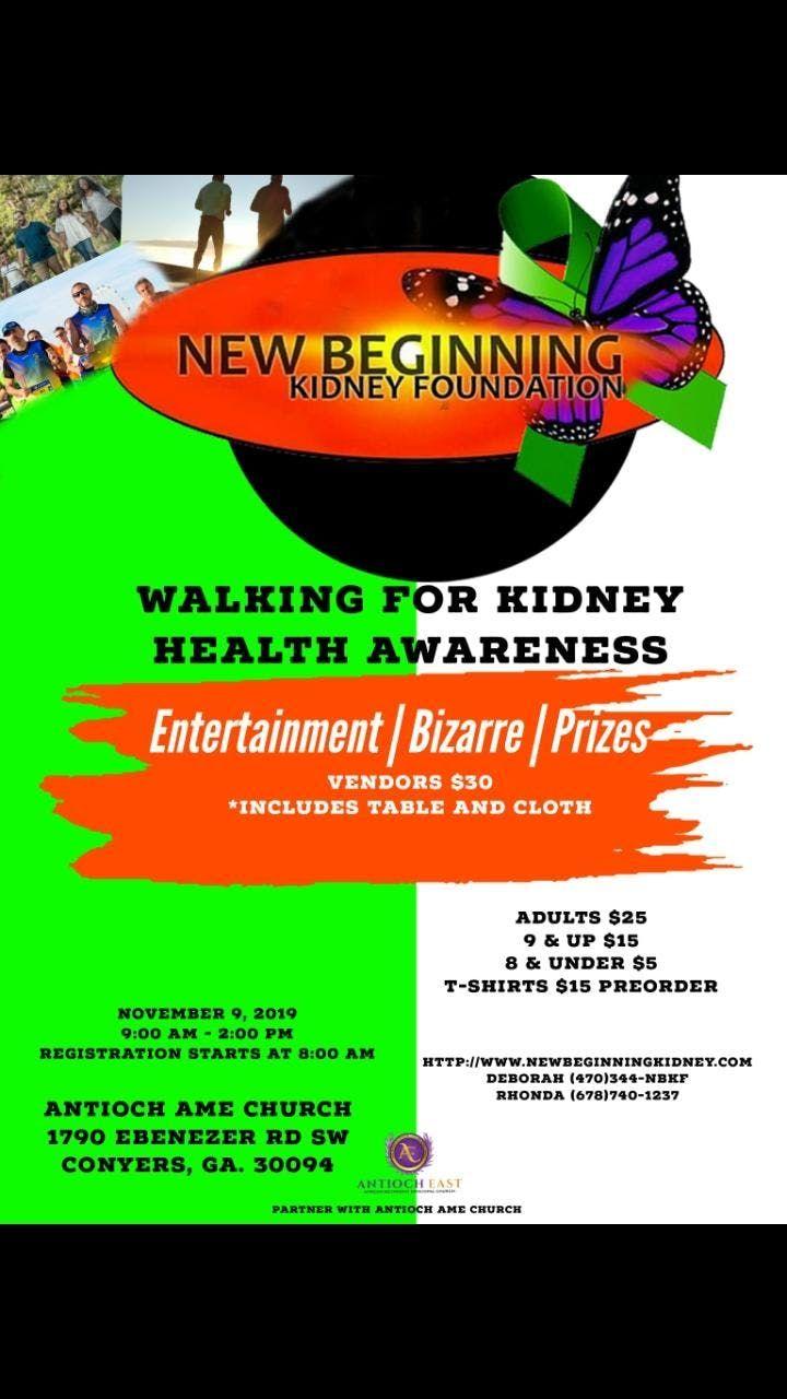 New Beginning Kidney Foundation Walking For Kidney Health Awareness