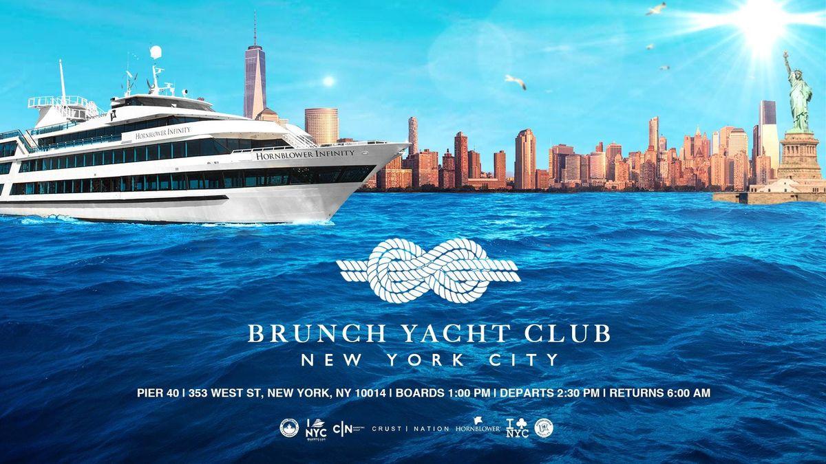 NYC 1 Brunch Yacht Club Cruise Mega Yacht INFINITY Boat Party Manhattan