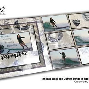 2h2188 Black Ice Distress Surfaces Page & Pockets