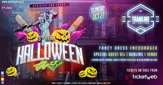 3rd Year Halloween Party at Tramline- Click Going to WIN