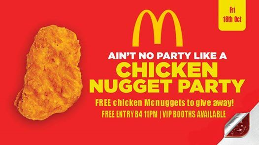 Nugget Party Hundreds of Free chicken McNuggets to give away