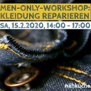 Workshop men-only Kleidung reparieren