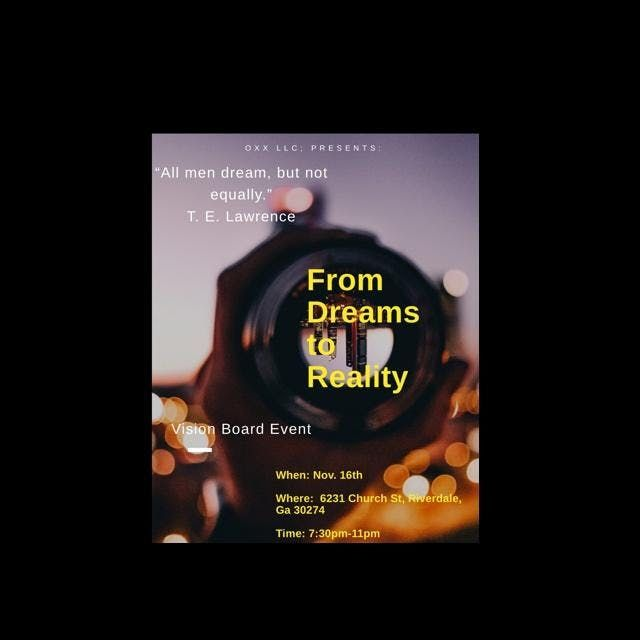From Dreams To Reality Vision Board Event