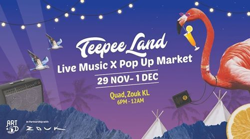 Teepee Land Live Music x Pop-Up Market