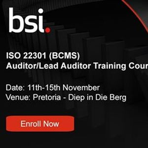 ISO 223012012 BCMS Lead Auditor