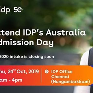 Attend IDPs Australia Admission Day  Chennai