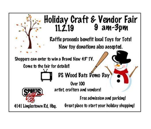Sports City Holiday Craft Vendor Fair Sports City Athletics Harrisburg 2 November 2019