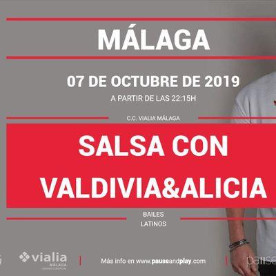 Bailes latinos Salsa con Valdivia&ampAlicia en Pause&ampPlay Vialia Mlaga