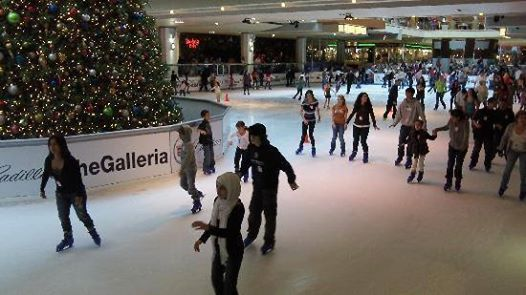 Ice Skating at The Galleria