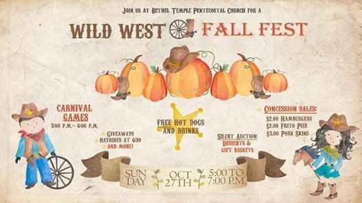 Wild West Fall Carnival At Bethel Temple Pentecostal