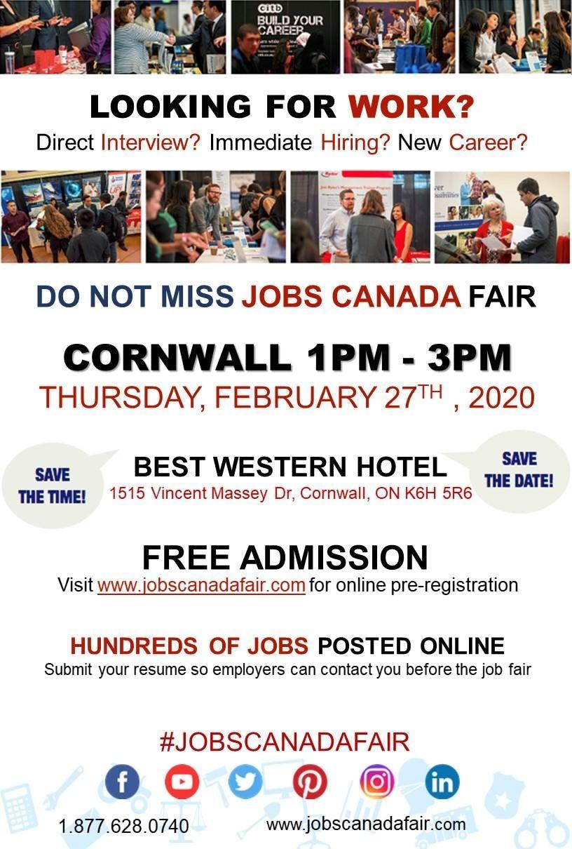 Best Careers 2020.Cornwall Job Fair February 27th 2020 At Best Western
