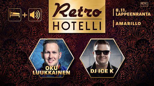 Retrohotelli Oku Luukkainen ja DJ Ice K