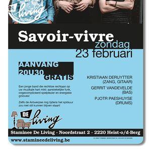 Savoir-vivre live at De Living