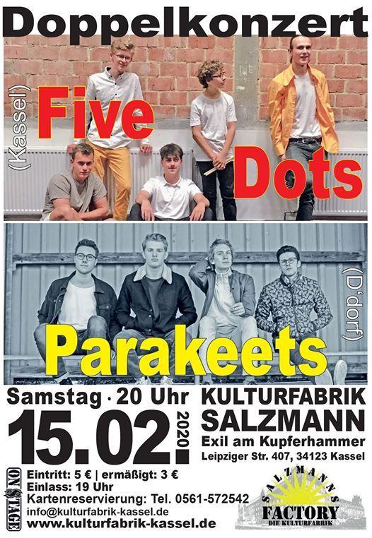 Doppelkonzert Five Dots Kassel  Parakeets Ddorf