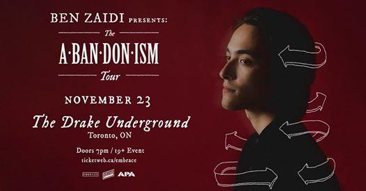 Ben Zaidi at The Drake Underground  Nov 23