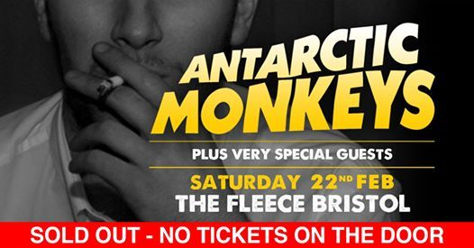 SOLD OUT Antarctic Monkeys  The West Indies at The Fleece