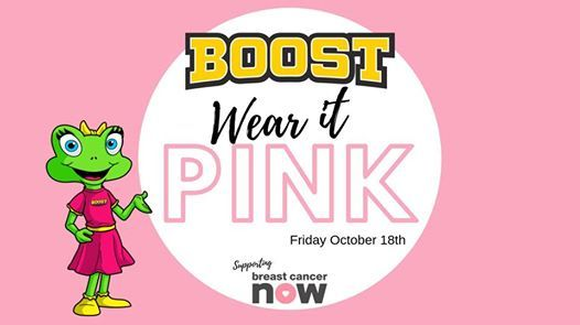 Wear it PINK at Boost - Supporting Breast Cancer Now