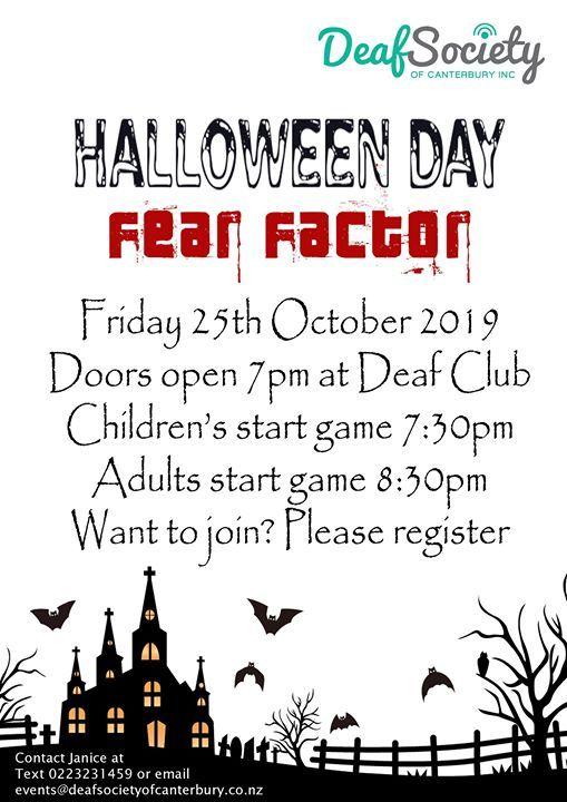 DSC Halloween Day  Fear Factor