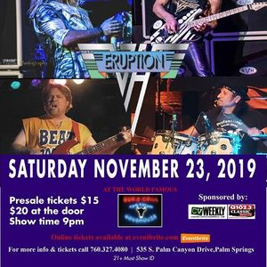 Eruption A Van Halen Tribute Live at The Palm Canyon Roadhouse