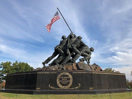 Iwo Jima 75th Anniversary - Marine Corps Memorial Arlington VA