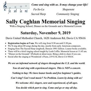 Join us for Shape Note singing