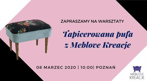 Tapicerowana pufa z Meblove Kreacje - Pozna