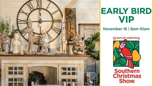 Christmas Show Charlotte.Southern Christmas Show Early Bird Vip At The Park Expo
